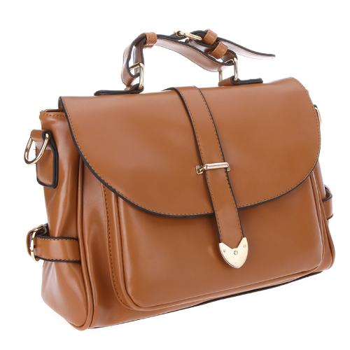 Fashion Retro Damen Messenger Tasche Beutel Tasche Schultertasche Handtasche Baguette braun