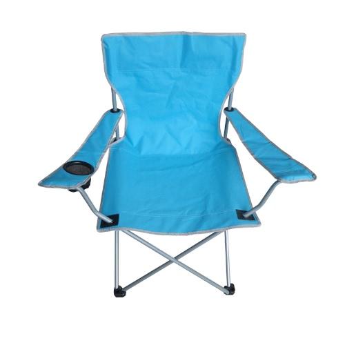 Portatile pieghevole in tessuto Oxford Arm sedia Patio esterno di campeggio di pesca con il supporto Coppa Carry Bag Blu