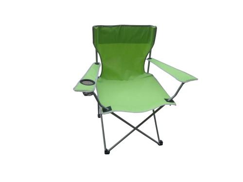 Plegable Butaca con Bolso Verde de tela Oxford para Pesca de Patio Camping Con Cup Holder