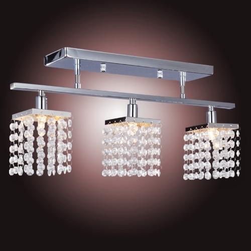 Kryształowy żyrandol z sufitu 3 lampka oświetlenie - Linear Projekt 110-120V