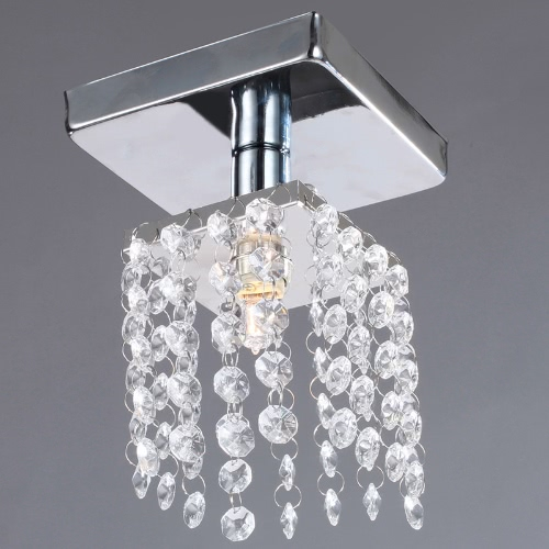 Mini Semi montażu podtynkowego w kryształowy żyrandol lampa Oświetlenie Chrome Finish 220-240V