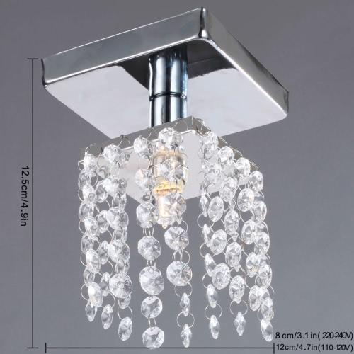 Mini Lámpara Chandelier Lámpara Chandelier lámpara iluminación cromado 220-240V