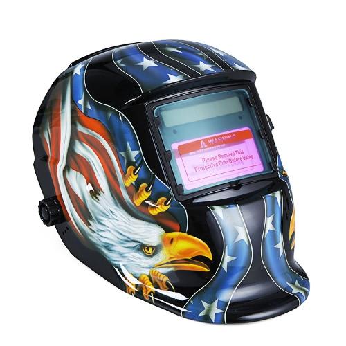 KKmoon Welding Helmet Solar Auto Darkening Welders Mask Arc Tig Mig Grinding Eagle Black
