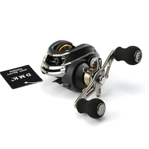 11+1BB 6.3:1 Left Hand Bait Casting Fishing Reel 10Ball Bearings + One-way Clutch High Speed Black thumbnail