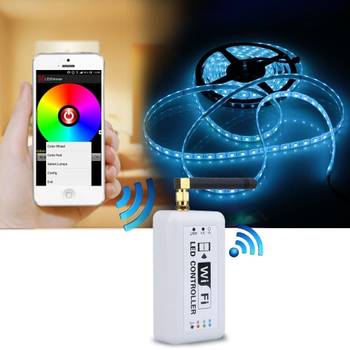 Docooler sans fil RGB LED Strip Wifi Controller pour iOS iPhone Android Smartphone Tablet