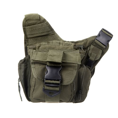 Molle Tactical Shoulder Strap Bag Pouch Travel Backpack Camera Military Bag Army Green