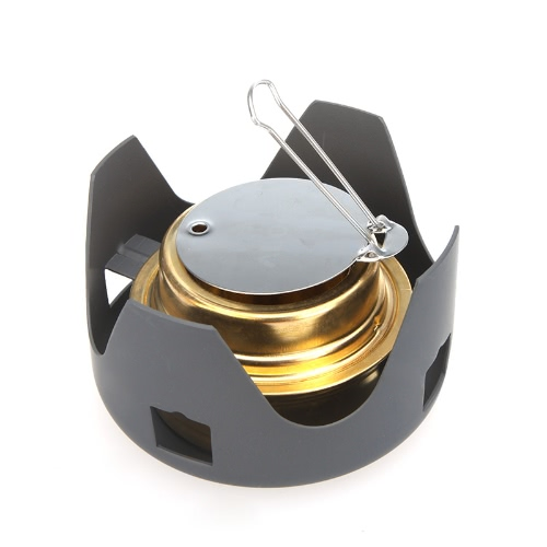 Docooler Portable Mini Ultra-light Spirit Burner Alcohol Stove Outdoor Backpacking Hiking Camping Furnace with Stand
