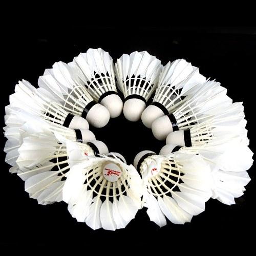 12 Stück  Badminton Weiß Federball  für Training