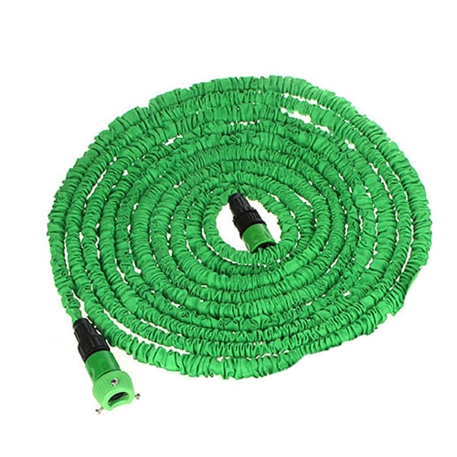75FT Ultralight Flexible 3X Expandable Garden Magic Water Hose Pipe + Faucet Connector + Fast Connector + Multifunctional Spray Nozzle