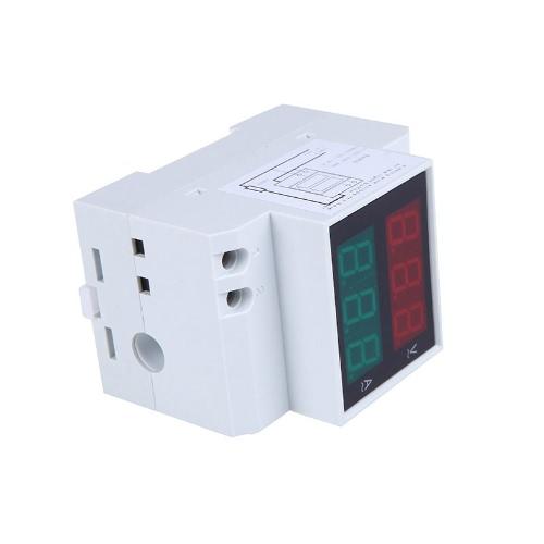 Digital Din-Rail LED Voltage Ammeter