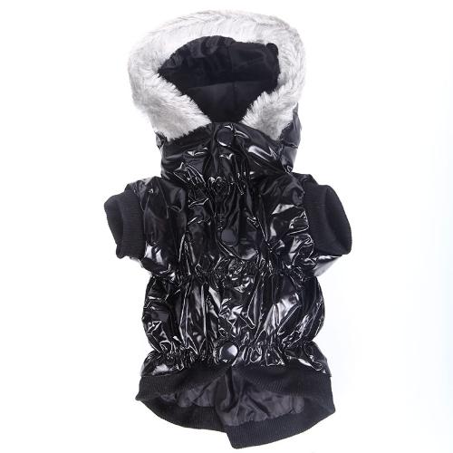 Водонепроницаемый собак Pet теплая одежда Одежда пальто толстовка с капюшоном для зимы