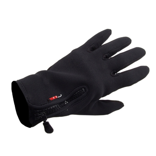 Docooler Unisex Touch Screen Windproof Warm Gloves Outdoor Cycling Skiing Hiking for Men & Women Black