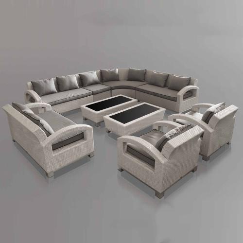 Salon de jardin mobilier ext rieur design unique luxe 11 for Mobilier exterieur resine tressee