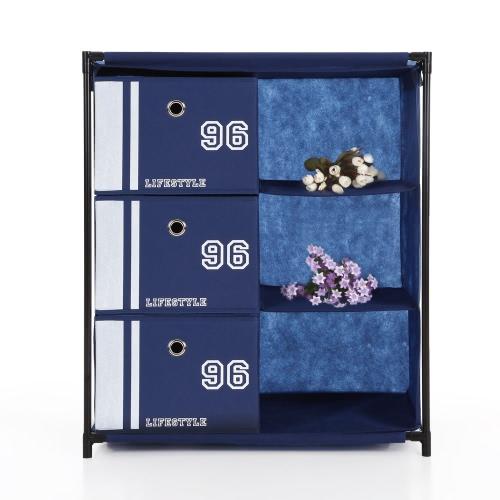 iKayaa Commode de rangement 3 tiroirs style vintage