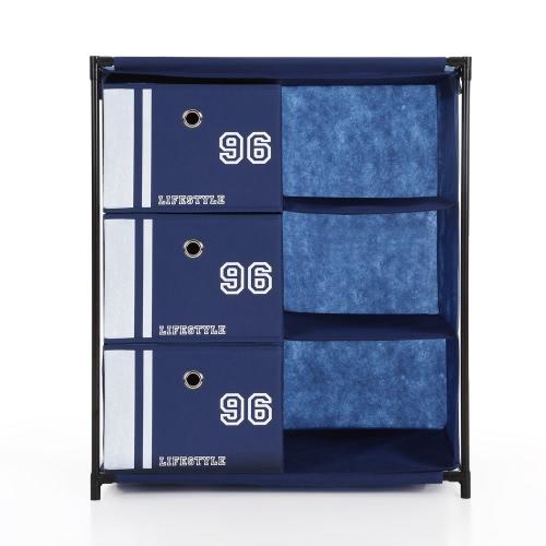 iKayaa Commode de rangement 3 tiroirs style vintage iKayaa