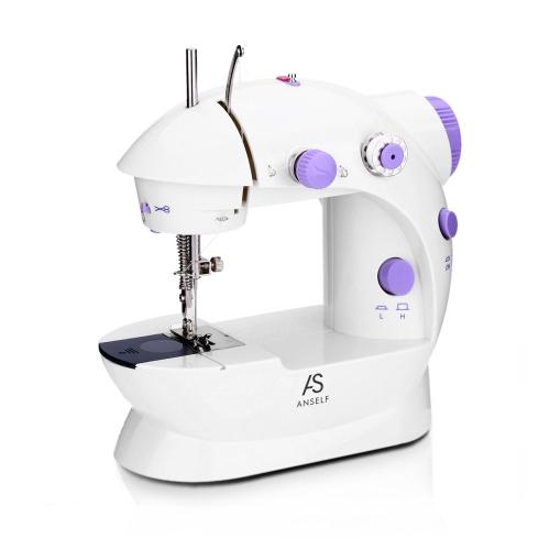 Ajuste de velocidad eléctrico de la máquina de coser de Anself Mini Household Purple House 2