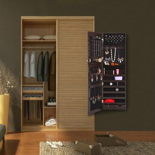 Solo ikayaa moda specchio monili d 39 attaccatura armoire gioielli armadio storage box - Armadio specchio gioielli ...