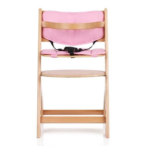 iKayaa – Chaise haute évolutive pour bébé en bois avec coussin