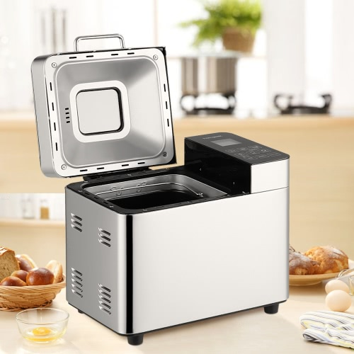 Homgeek High-end 2lb Professional Bread Maker Programmable Breadmaker Stainless Steel Bread Machine