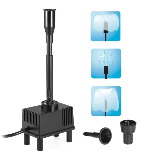 5W Погружной водяной насос со светодиодной подсветкой для аквариумного рыбного резервуара для пруда Сад Птичий фонтан 500L / H AC 220V