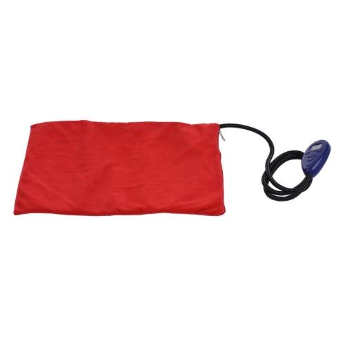 Электрический нагревательный коврик для обогрева Собака-кошка Pet-кровать с мягким мягким шнуром Мягкая съемная крышка 7 Температурные уровни Регулируемая (25 ~ 55) 12V Размер 40 * 30 см / 15,7 * 11,8in