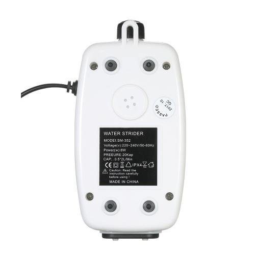 Bomba de aire acuática de 8W Mini acuario bomba de aire ajustable flujo de aire para el tanque de peces con 2pcs 2m manguera suave + válvula de parada de 2pcs + 2pcs aire piedra