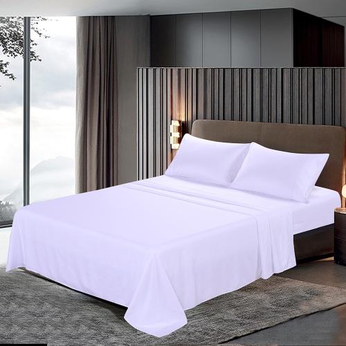 Htovila 4-Piece Bed Sheet Set Soft Brushed Microfiber Bedding Set Flat Sheet + Fitted Sheet + 2pcs Pillowcase--Queen Size + Grey