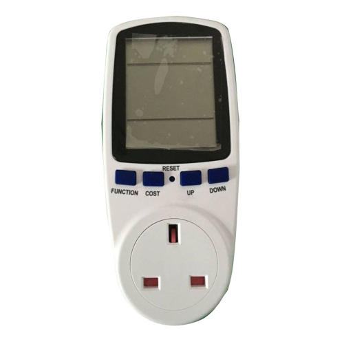 Digital Wattmeter Watt Monitor Electricity Consumption Measuring Socket Analyzer Electricity Usage Monitor Power Meter Energy Meter with Plug Socket for Measure Voltage Electric Current Power