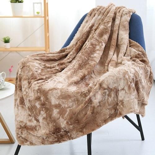 Одеяло с длинным мехом Micro Plush Бархатное флисовое одеяло фото
