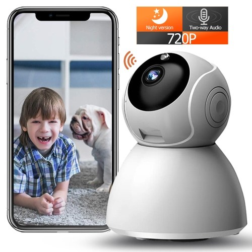 X9100C-PH36 720P WiFi Smart Pet Security Camera with Night Vision Two-way Audio 355 Degree PTZ APP Camera for Pet Baby Elder