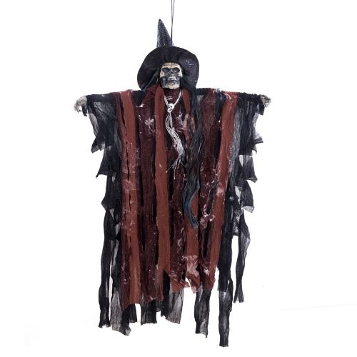 Haunted House Decoration Props Hanging Animated Scary Skeleton Ghost