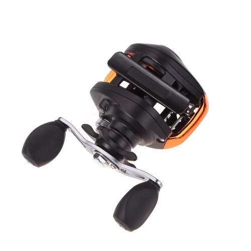 Docooler AF103 10+1BB Ball Bearings Left Hand Bait Casting Fishing Reel High Speed 6.3:1 Black