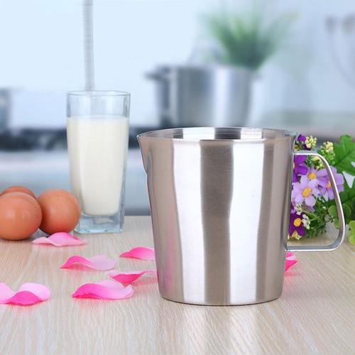 1000ML Edelstahl Pitcher Krug Milch Schaum Milchbehälter Tasse Kaffee Küche Werkzeug messen