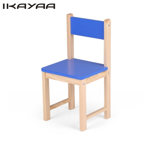 iKayaa Cute Wooden Kids Chair Stool Solid Pine Wood Children Stacking School Chair Furniture 80KG Load Capacity