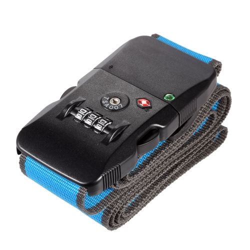 Anti-Theft Bluetooth 4.0 Smart Travel Luggage Belt Anti-loss Baggage Strap with 3 Dial Combination Lock for iOS and Android Smartphone
