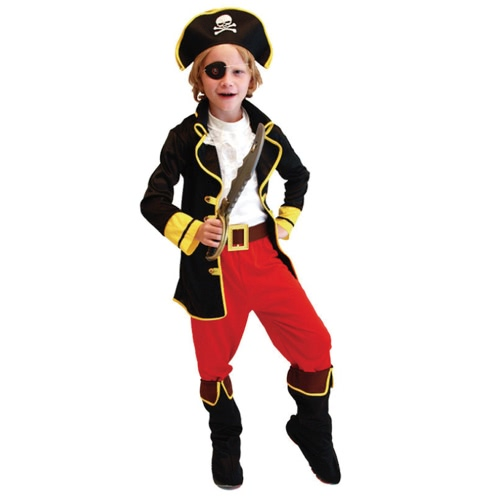FESTNIGHT Halloween Costume Suit Cool Pirate Roleplay Costume Kindergarten Children Fancy Dress Props Carnival Kids' Cosplay Clothes