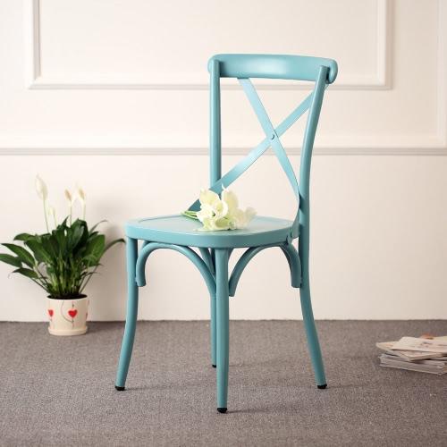 IKAYYA Style industriel chaise Métal pour cuisine, dîner, chaise au design ergonomique