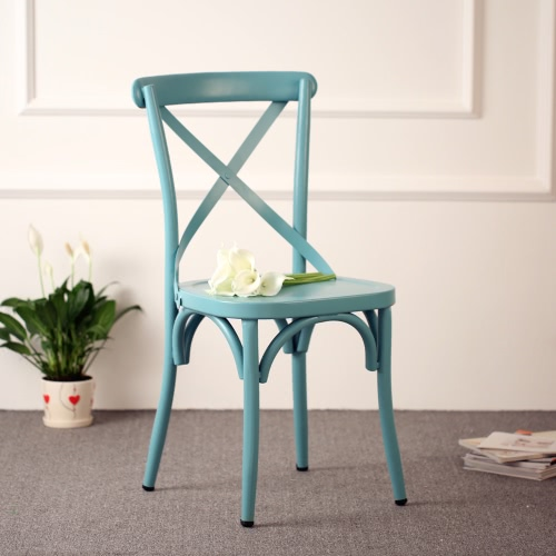 iKayaa Industrial Style Metal Kitchen Dining Breakfast Chair Stool Ergonomic Design