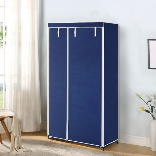 iKayaa Portable Fabric Closet Wardrobe Cabinet Storage Organizer Clothes Hanger