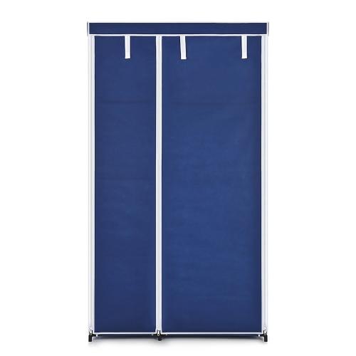 iKayaa Garde-robe avec penderie en tissu