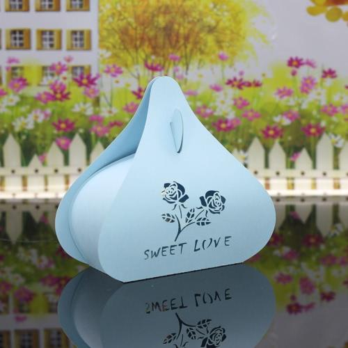 Boîtes de 30pcs exquis Laser Cut boîtes à bonbons mariage partie Favor Bridal Shower cadeau doux romantique Rose motif
