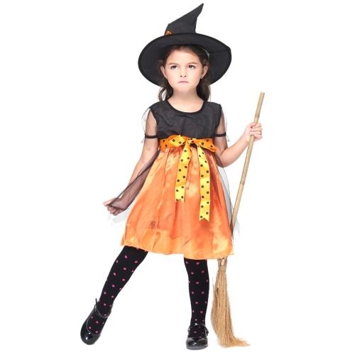 Festnight Косплей Давайте Притворись Довольно костюм ведьмы Симпатичные костюмы персонажей Fairytale Волшебница ребенка костюм Хэллоуин Kids '