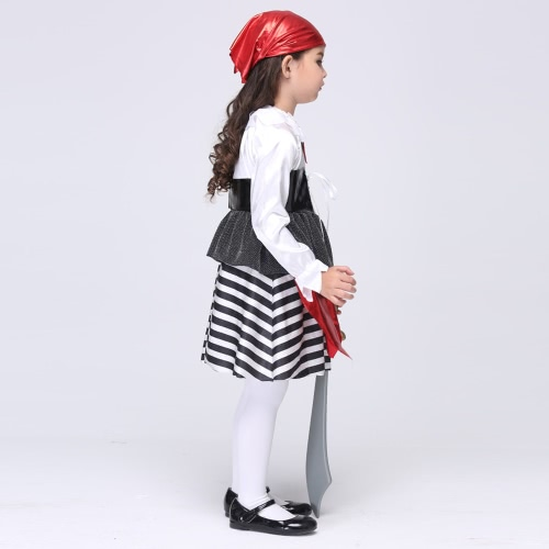 Festnight Cosplay Imaginons Jolie Seas Buccaneer Costume Pirate mignon Costumes pour enfants Costumes pour enfants Halloween