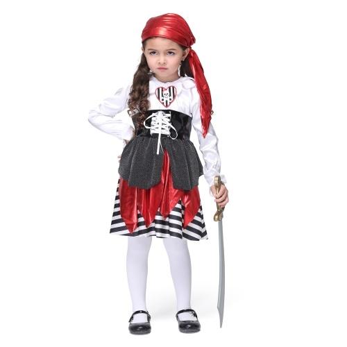 Festnight Косплей Давайте Притворись Довольно морей пират Костюм Симпатичные Пиратские костюмы Детские костюмы Хэллоуин Детские