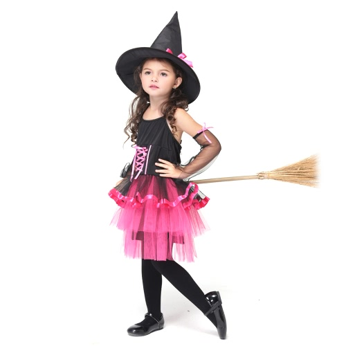 Festnight Cute Princess Fairy Dress Witch Costumes Halloween Children Skirt Suit Cosplay Sorceress Dancing Costume Party Clothes