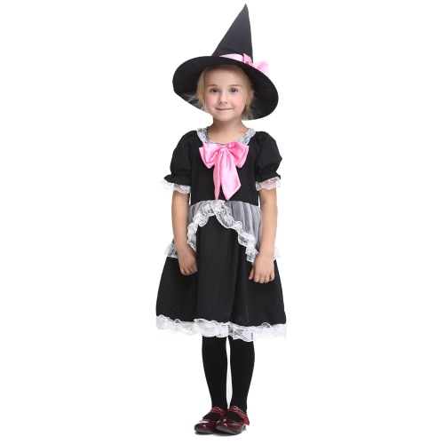 Festnight Cute Princess Peach Costume Halloween Girls Skirt Suit Cosplay Princess Costumes Party Clothes