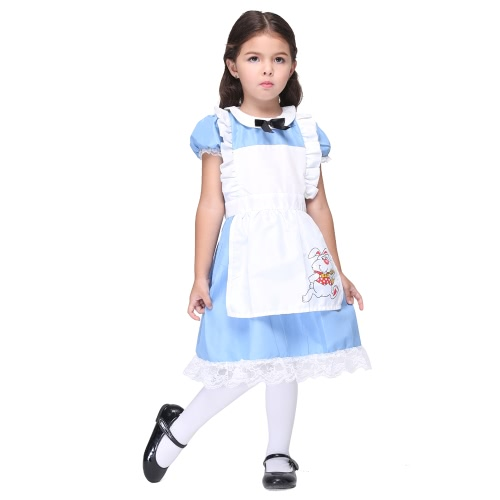 Festnight Fun & Fancy Princess Costumes Christmas Day Halloween Girls Dress Suit Cosplay Alice in Wonderland Costume Party Clothes