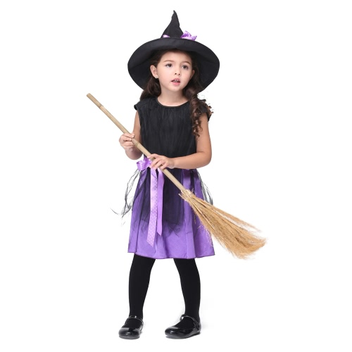 Festnight Fun & Fancy Witch Costumes Christmas Day Halloween Girls Dress Suit Cute Cosplay Costume Party Clothes