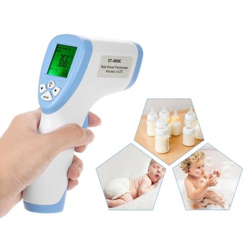 Température frontale de surface de corps de thermomètre infrarouge sans contact DT8809C pour la famille
