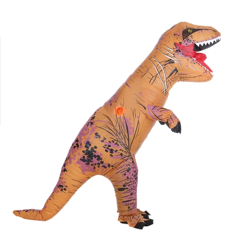 Lustige Kinder aufblasbare Dinosaurier Trex-Kostüm-Klage Air Fan Operated Blow Up Halloween Cosplay Abendkleid-Tierkostüm Overall